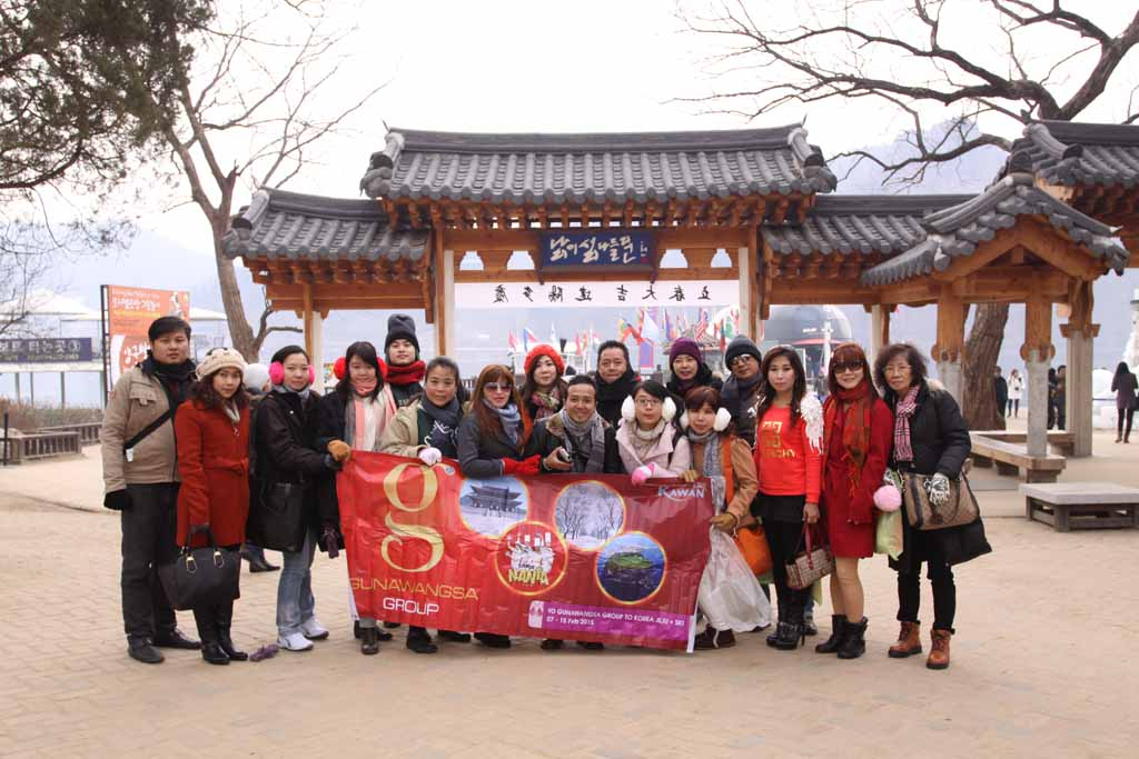Gunawangsa Group travelling to korea 7 - 15 february 2015 for holiday
