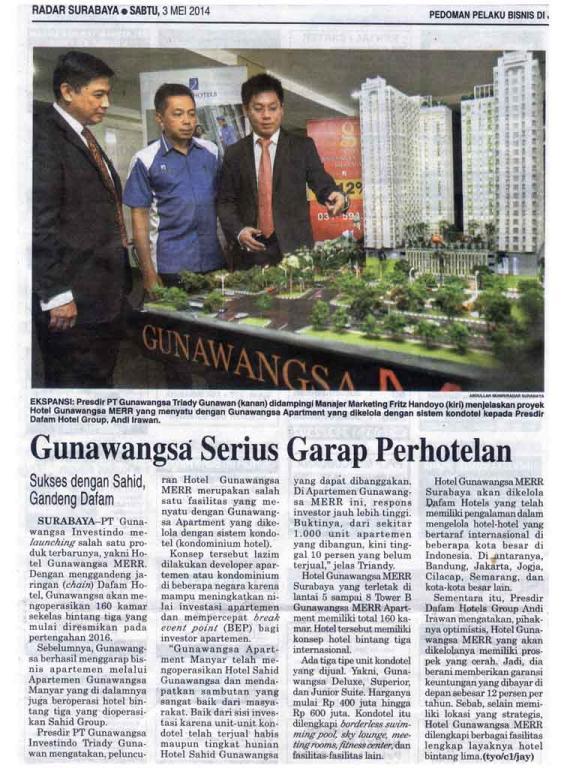 Koran Radar Surabaya, 3 mei 2014